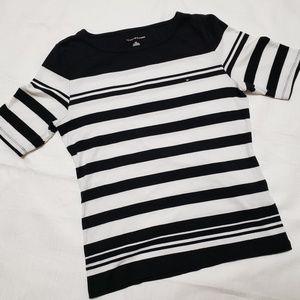 Tommy Hilfiger Black/White Striped Shirt